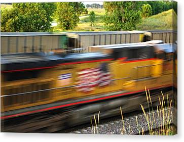 Canvas Print featuring the photograph Fast Train by Bill Kesler