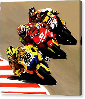 Faster  Valentino Rossi Canvas Print by Iconic Images Art Gallery David Pucciarelli