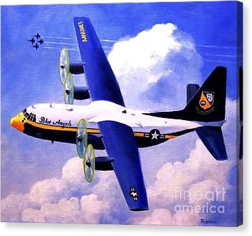 Canvas Print featuring the painting Fat Albert by Stephen Roberson