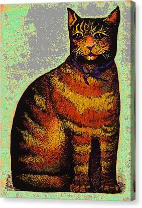 Feline Canvas Print - Fat Cat by Dale Michels