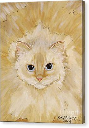 Canvas Print featuring the painting Fat Kitty by Alison Caltrider
