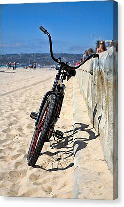 Beach Cruiser Canvas Print - Fat Tire - Color by Peter Tellone