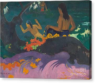 Signature Canvas Print - Fatata Te Miti  by Paul Gauguin