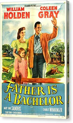 1950 Movies Canvas Print - Father Is A Bachelor, Us Poster by Everett