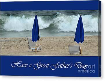 Father's Day Card Canvas Print by Randi Grace Nilsberg