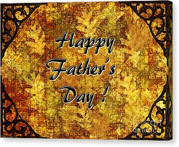 Father's Day Greeting Card I Canvas Print by Debbie Portwood