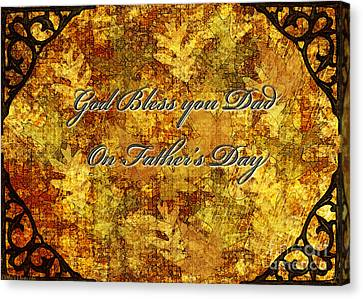 Father's Day Greeting Card IIi Canvas Print by Debbie Portwood