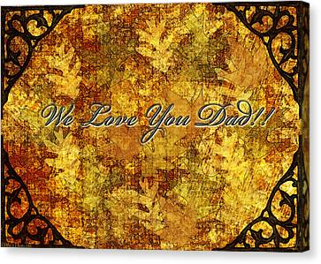 Father's Day Greeting Card Iv Canvas Print by Debbie Portwood
