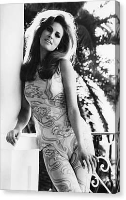 1960s Hairstyles Canvas Print - Fathom, Raquel Welch, On Location by Everett