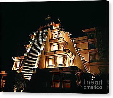 Faux Myan Pyramid Canvas Print by John Malone