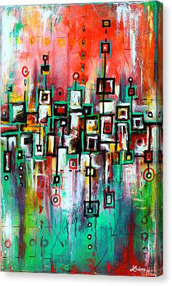 Favelas - Abstract Art By Laura Gomez Canvas Print by Laura  Gomez