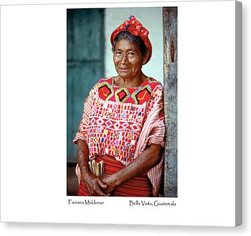 Canvas Print featuring the photograph Faviana Maldonar by Tina Manley