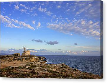 Favignana - Lighthouse Canvas Print by Alfio Finocchiaro