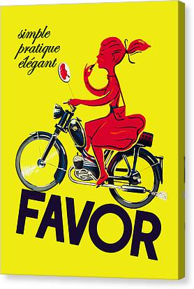 Favor Lipstick 1950 Canvas Print by Mark Rogan