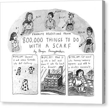 Favorite Selections From 800 Canvas Print by Roz Chast