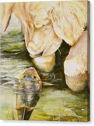 Canvas Print featuring the painting Favourite Friends by Patricia Schneider Mitchell