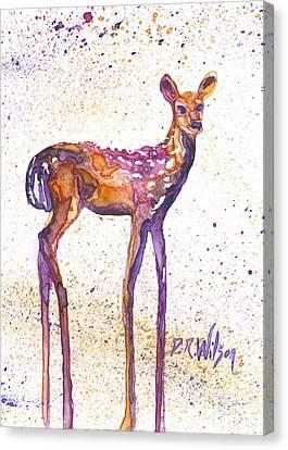 Fawn Rising Canvas Print