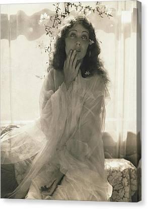 Ophelia Canvas Print - Fay Wray As Ophelia by Edward Steichen