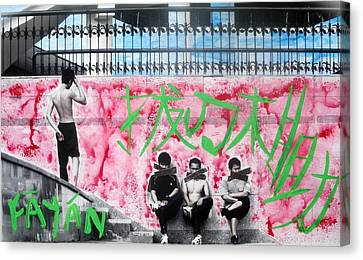 Canvas Print featuring the photograph Fayan Boys by Lesley Fletcher