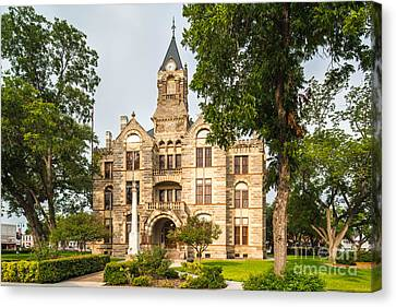 Fayette County Courthouse - La Grange Texas Canvas Print by Silvio Ligutti