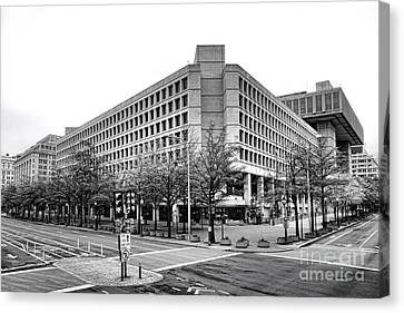 Fbi Building Front View Canvas Print