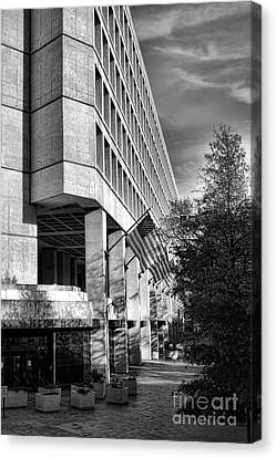D.c. Canvas Print - Fbi Building Modern Fortress by Olivier Le Queinec