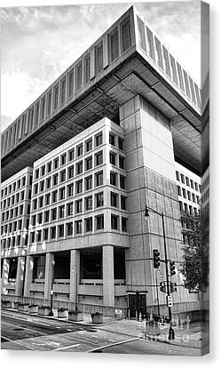 Fbi Building Rear View Canvas Print by Olivier Le Queinec