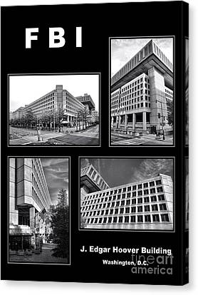 Fbi Poster Canvas Print by Olivier Le Queinec