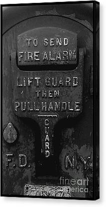 Fdny - Alarm Canvas Print by James Aiken
