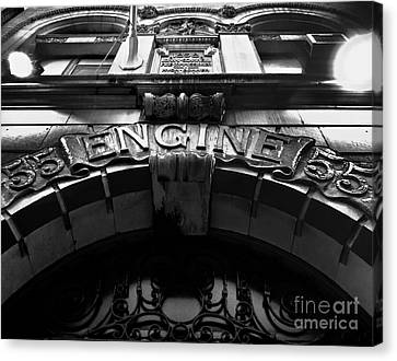 Fdny - Engine 55 Canvas Print by James Aiken