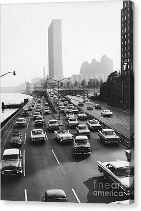 Fdr Drive, Nyc, 1961 Canvas Print by Dick Hanley