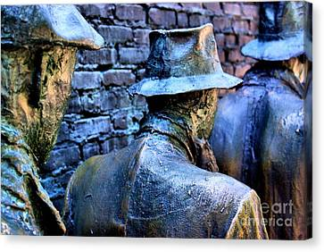 Canvas Print featuring the photograph Franklin Roosevelt   Memorial Washington Dc by John S