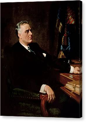 Democrats Canvas Print - Fdr Official Portrait  by War Is Hell Store