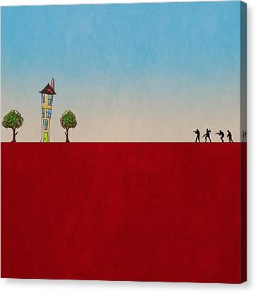 Canvas Print featuring the digital art Fear by Andy Walsh
