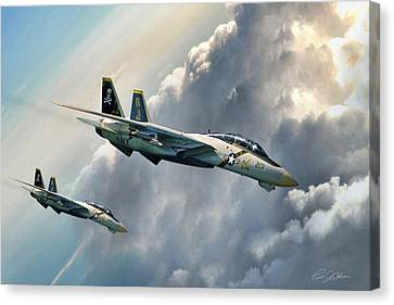 Fear The Bones Canvas Print by Peter Chilelli