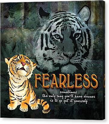Fearless Canvas Print by Evie Cook