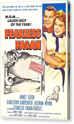 Fearless Fagan, Us Poster, Right Canvas Print by Everett