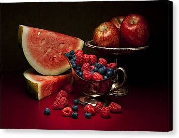 Feast Of Red Still Life Canvas Print by Tom Mc Nemar