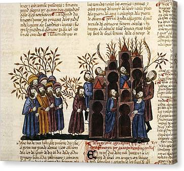 Feast Of Tabernacles, 1430 Artwork Canvas Print by Patrick Landmann