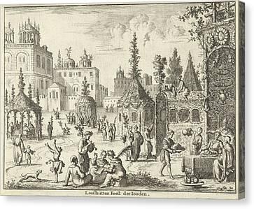 Feast Of Tabernacles, Jan Luyken, Willem Goeree Canvas Print by Jan Luyken And Willem Goeree