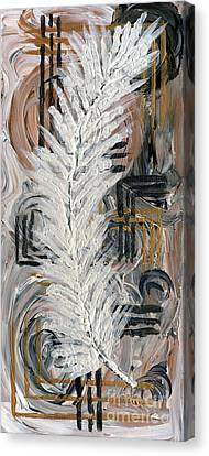 Feather Of Light Canvas Print
