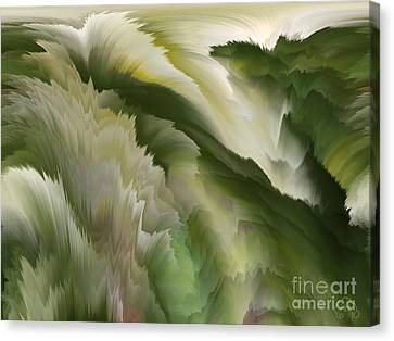 Feathered Hills And Valleys Canvas Print by Patricia Kay