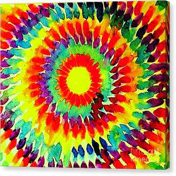 Feathered Sunshine Canvas Print by Hazel Holland