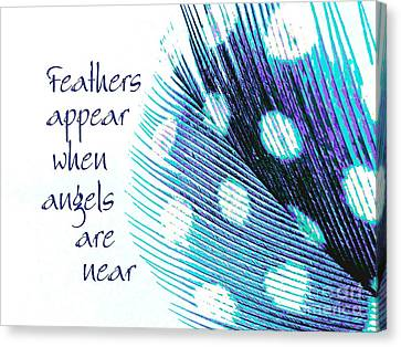 Feathers Appear Canvas Print by Sally Simon