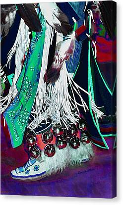 Feathers Fringe And Bells Canvas Print by Kae Cheatham