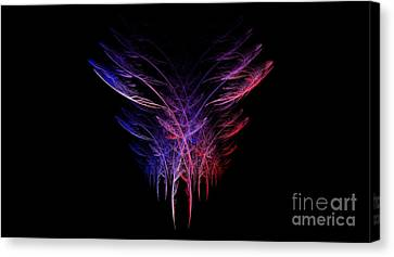 Feathers In Motion Canvas Print