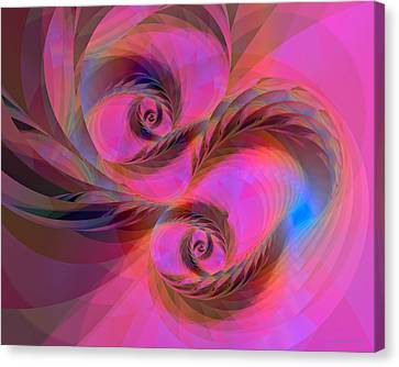 Feathers In The Wind Canvas Print by Judi Suni Hall