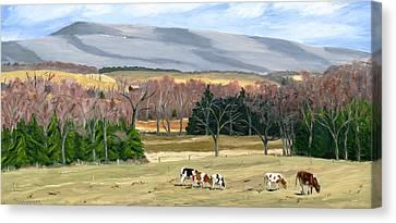 February At Bear Meadows Farm Canvas Print