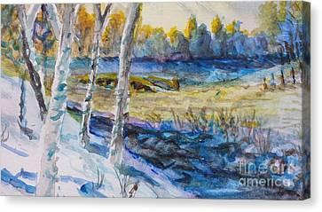 February Morn Canvas Print