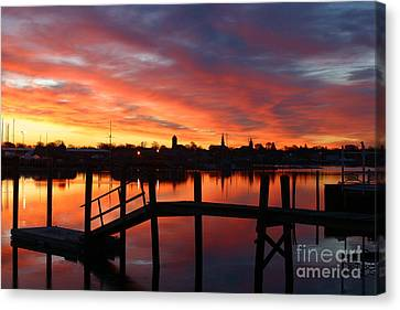 February Sunrise Canvas Print by Butch Lombardi